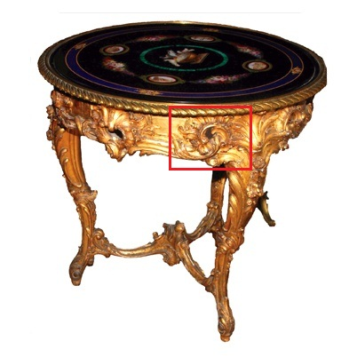 Table from Gatchina Palace, Russia