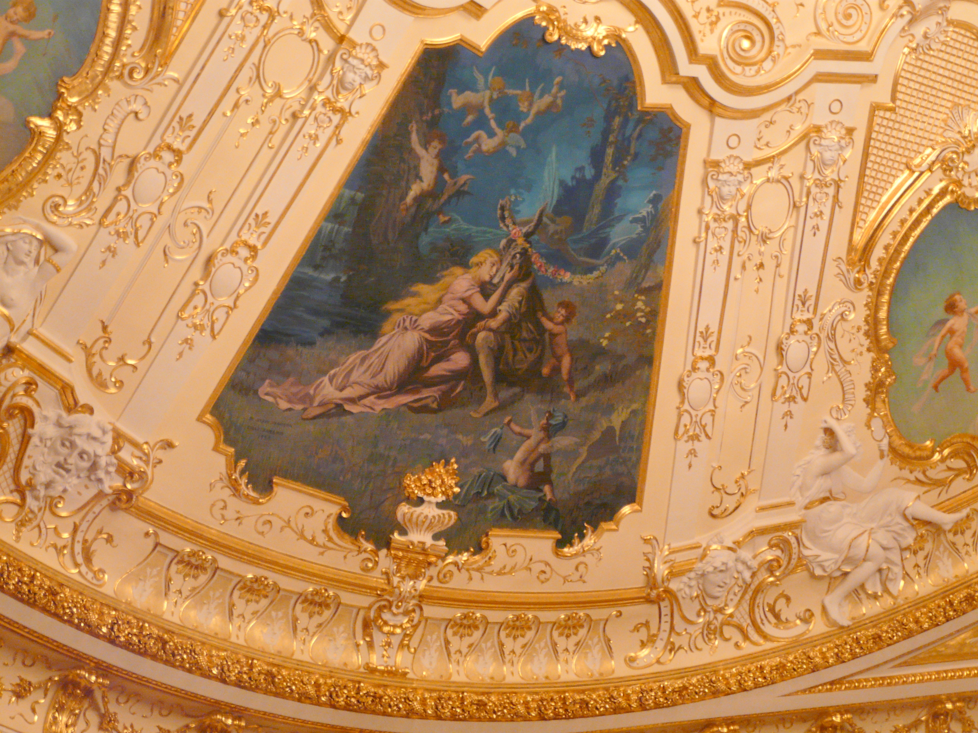 fragment of ceiling in Odessa Opera and Ballet Theatre