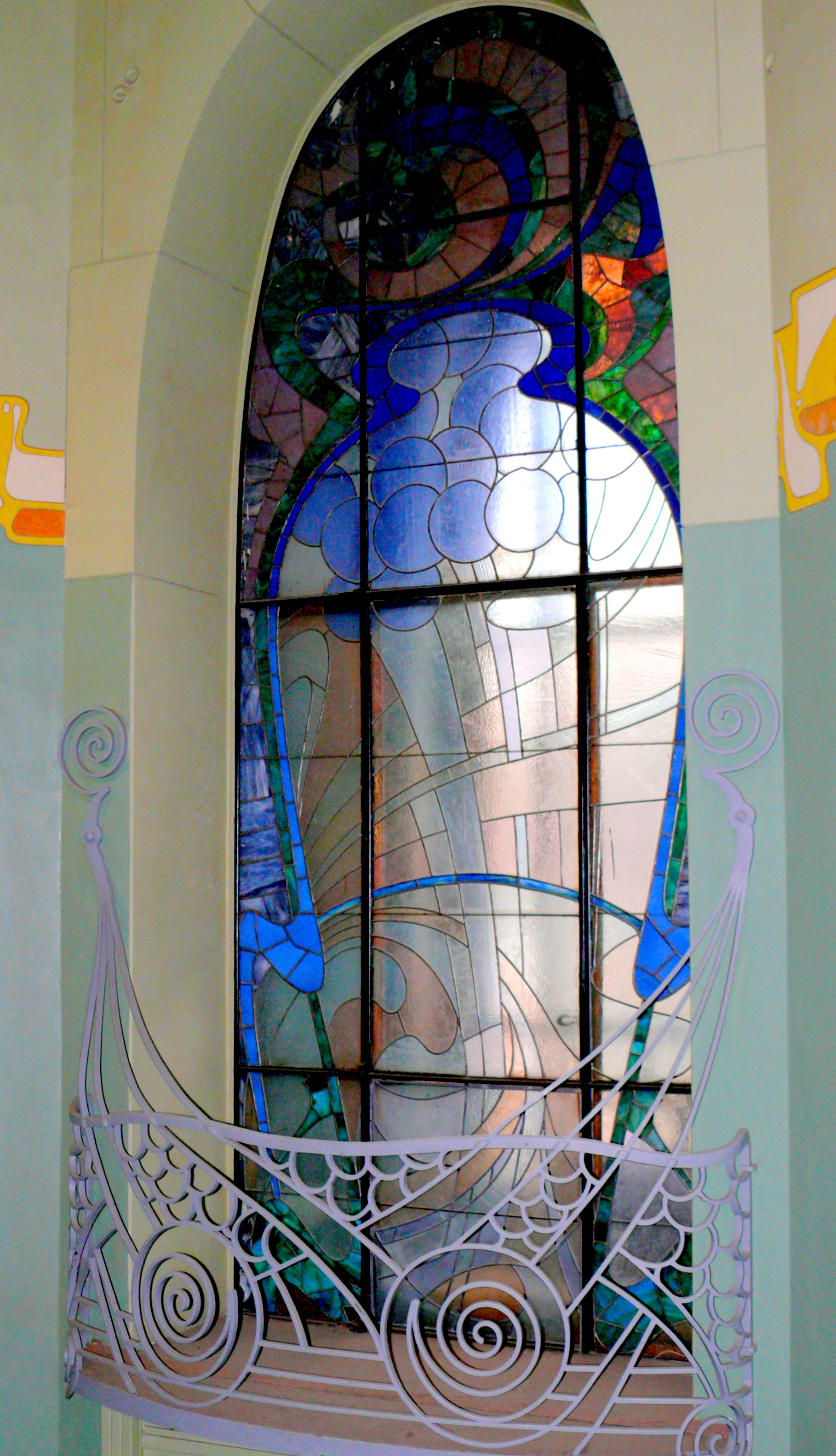 Art nouveau stained glass for Art glass windows