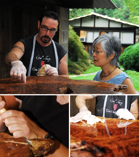 Process of creating custom wooden furniture George Nakashima