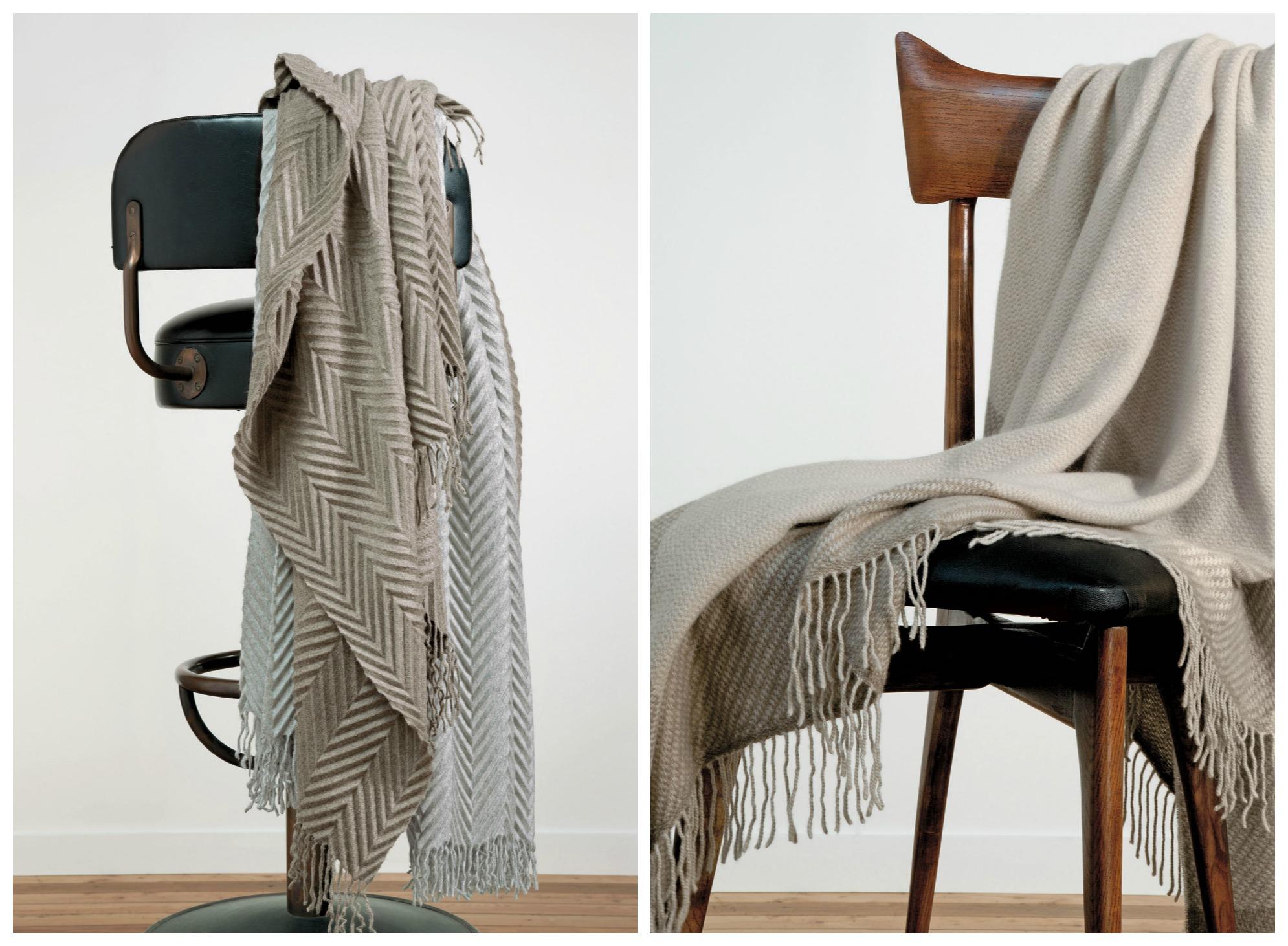 Cashmere plaids from Agnona