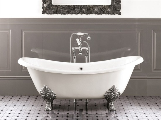 Porcelain Coated Cast Iron Bath Is The Perfect Choice If You Want To  Decorate Your Bathroom In Traditional Style.