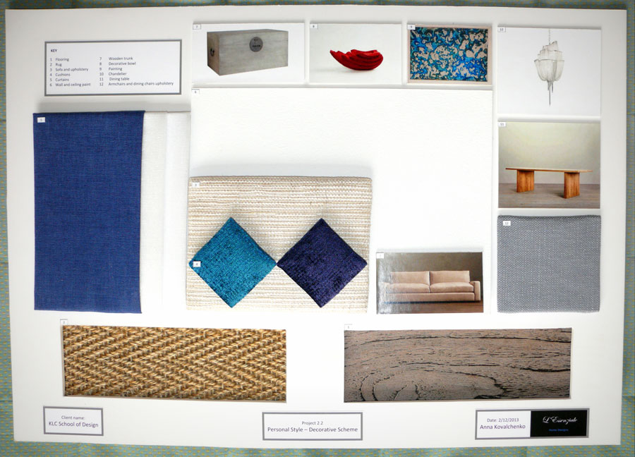 How to create a sample board for interior design project for Sample interior designs
