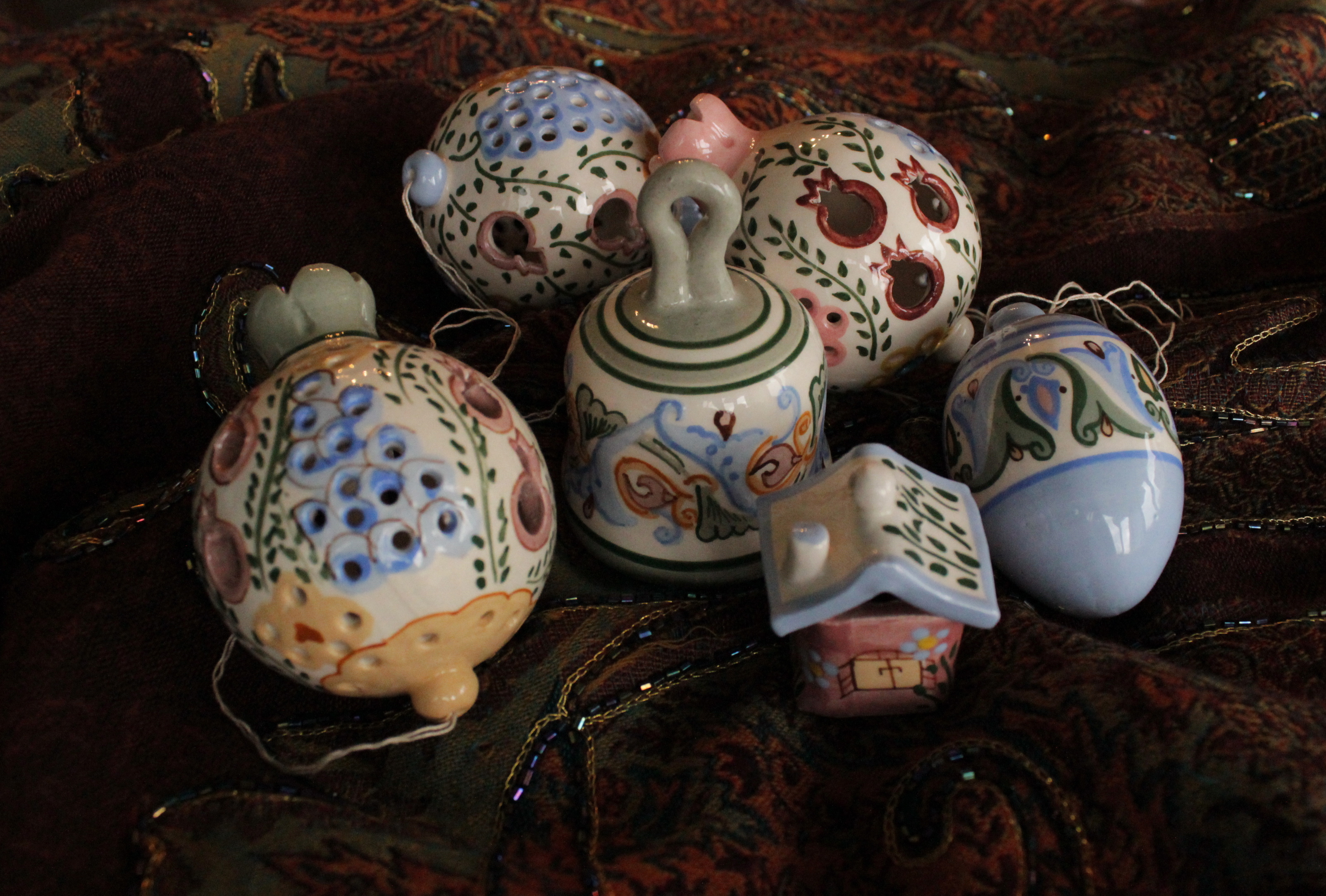 Ceramic christmas ornaments - Hand Painted Christmas Ornaments