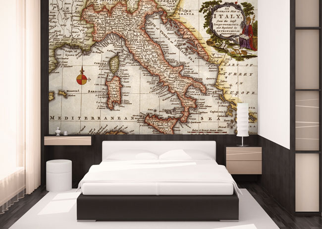 Essential Trend: Antique Map Wallpaper