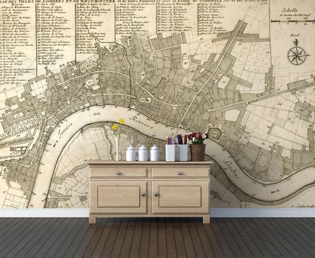 Essential Trend: Antique Map Wallpaper
