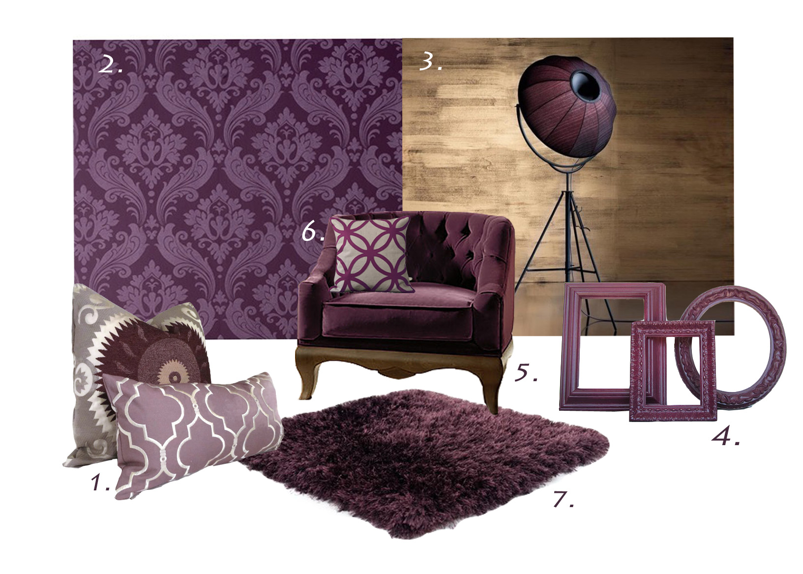 Design Aubergine Color essential colour aubergine l essenziale decor