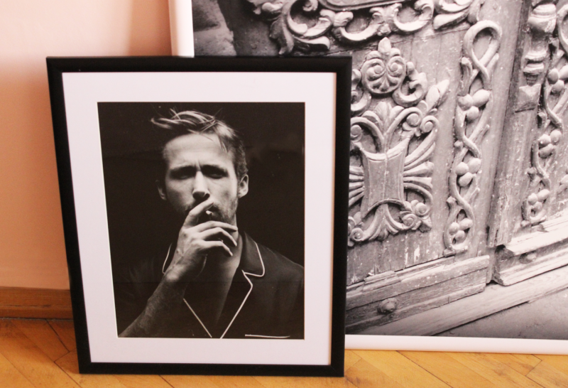 About Displaying Art, Layering Photos And Ryan Gosling In My Bedroom