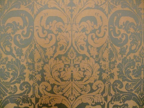 Example of the fabric in Baroque style. Usually they were used as wall coverings.