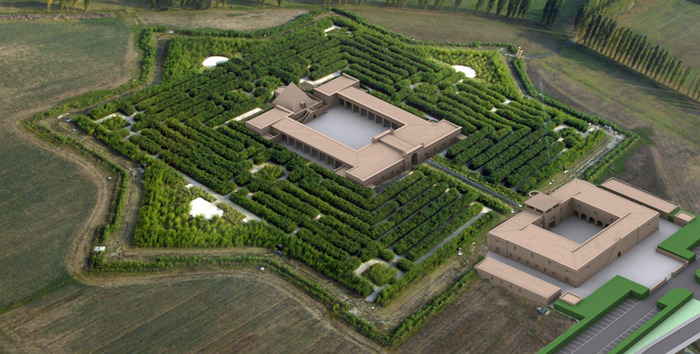 the garden is located around riccis house in the village fontanellato north of italy it took him eight years to grow it and very soon it will be opened - Biggest House In The World 2014