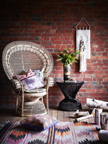Boho Essentials: Peacock chair