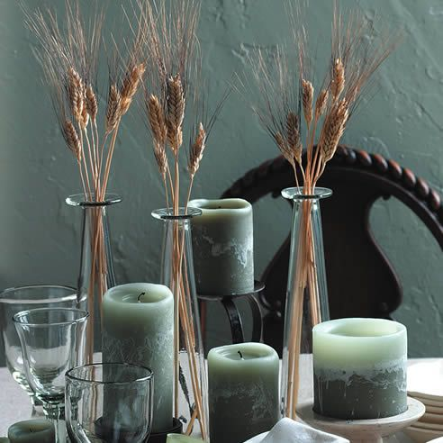 16 diy ideas of wheat decorations for Wheat centerpieces