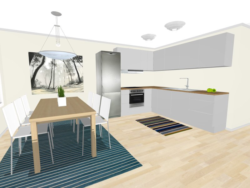 RoomSketcher Free  Kitchen Dining 3d Model