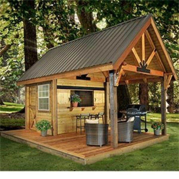 garden sheds with patio