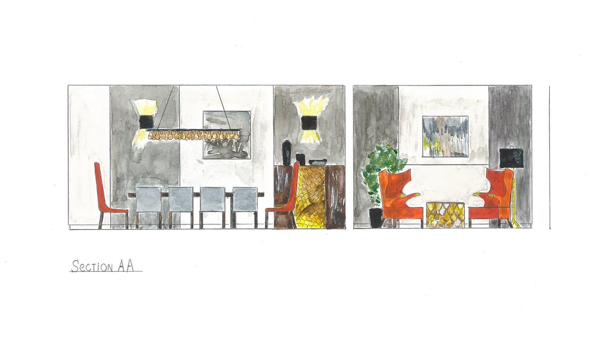 Preparing Section Drawings For Interior Design Project