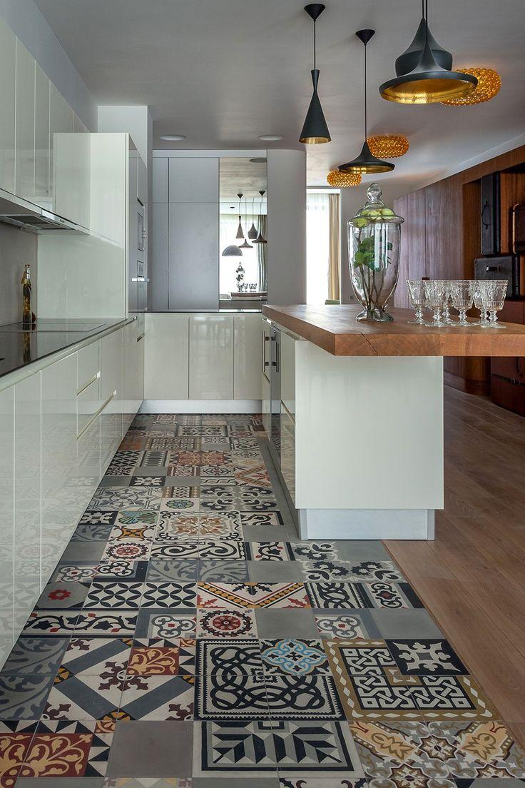 patchwork floor tiles