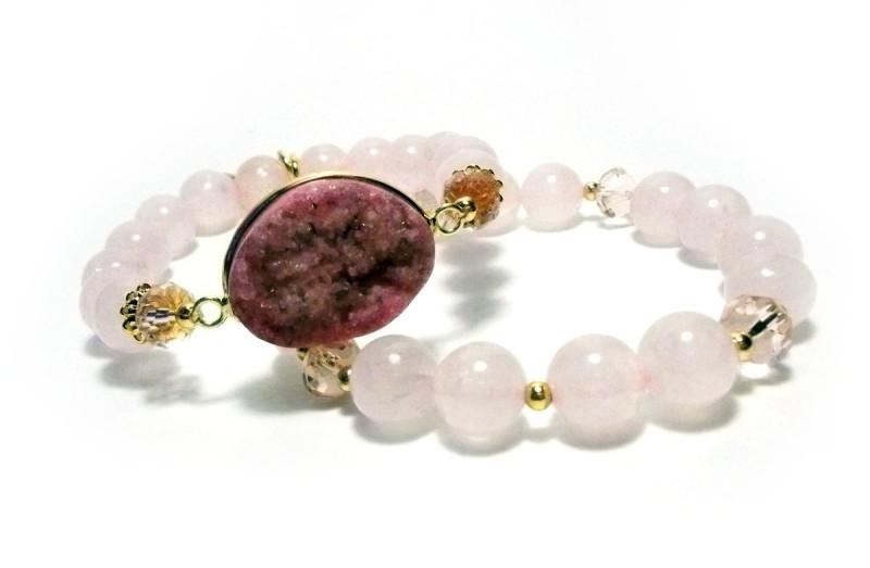 Natural stones stretch bracelet