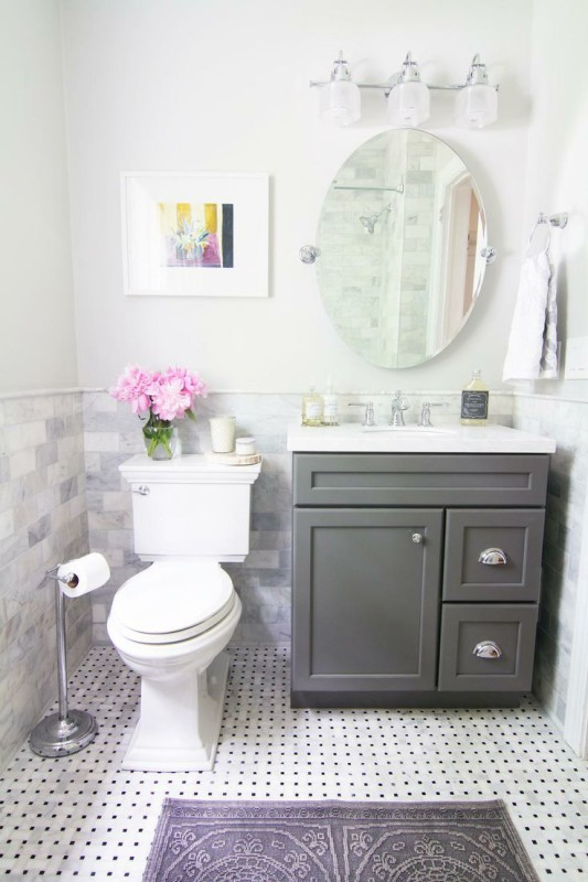 Vanity For Small Bathroom These days, more and more homeowners prefer to invest in contemporary bathroom  vanity which can easily fit in both the small and big bathrooms.