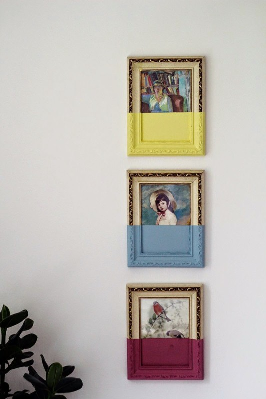 paint-dipped-picture-frames-wall-display1