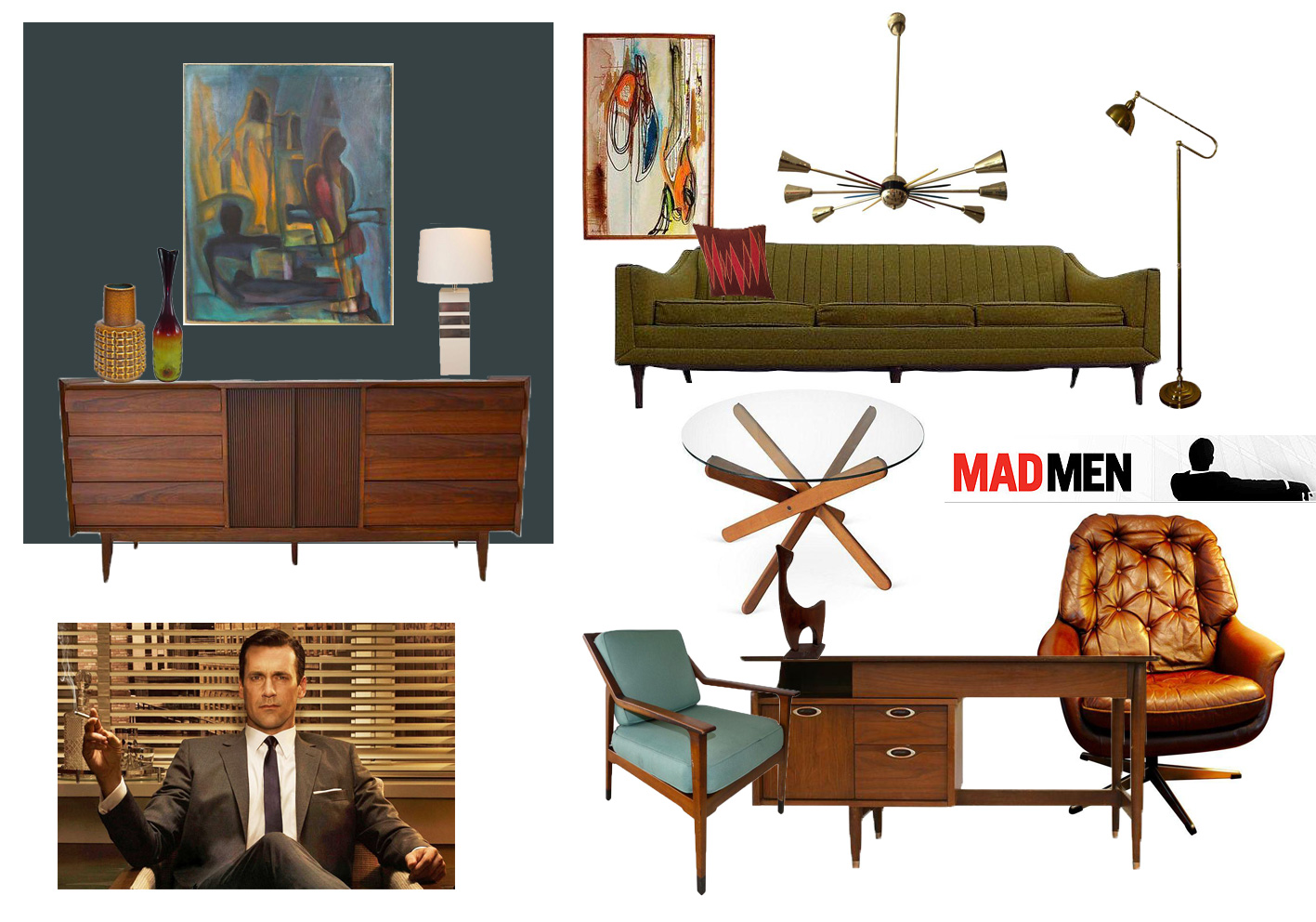 mad men inspired room don drapers office - Mad Men Sofa