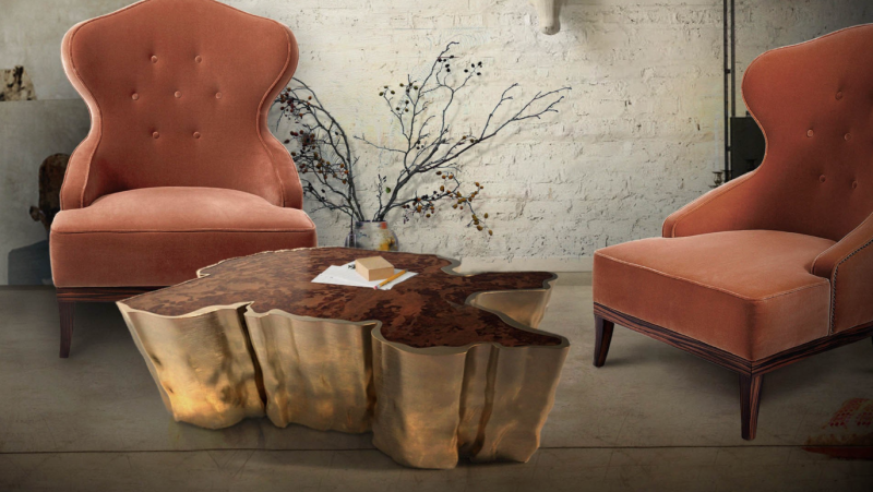 The Top Is Available In Different Veneer, While The U201cbarku201d Is Made Of The  Aged Brass. Coffee Table