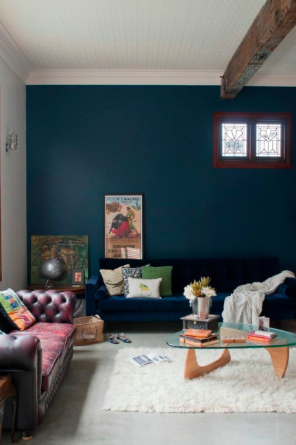 Dark Blue Decor