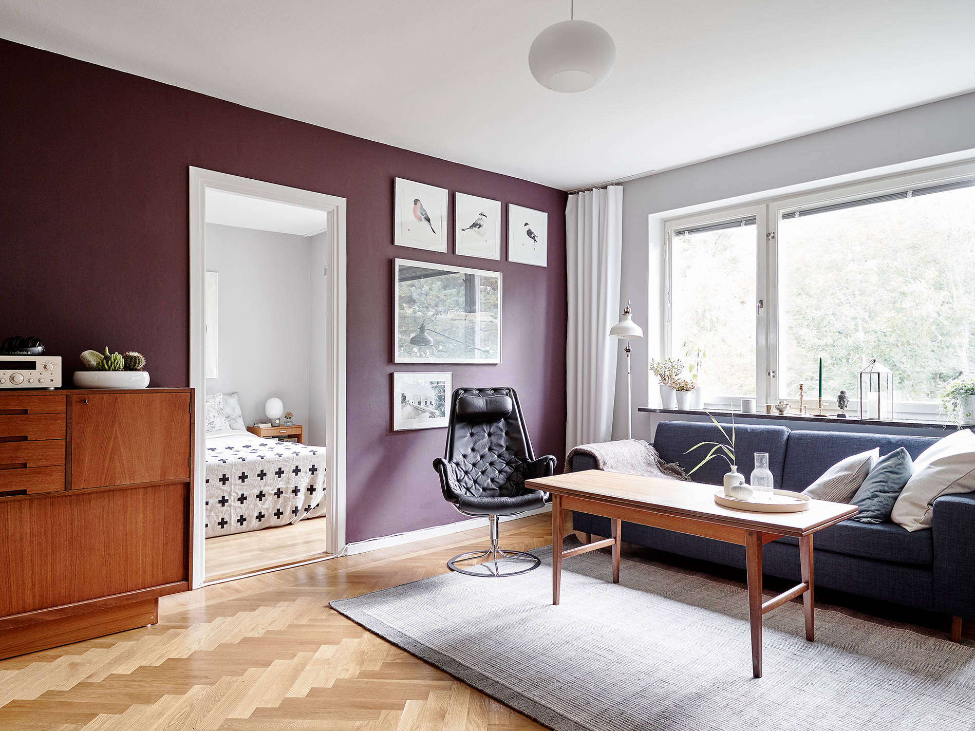 In Colour Burgundy Charming Apartment In Sweden