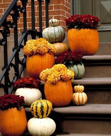 pumpkins entryway