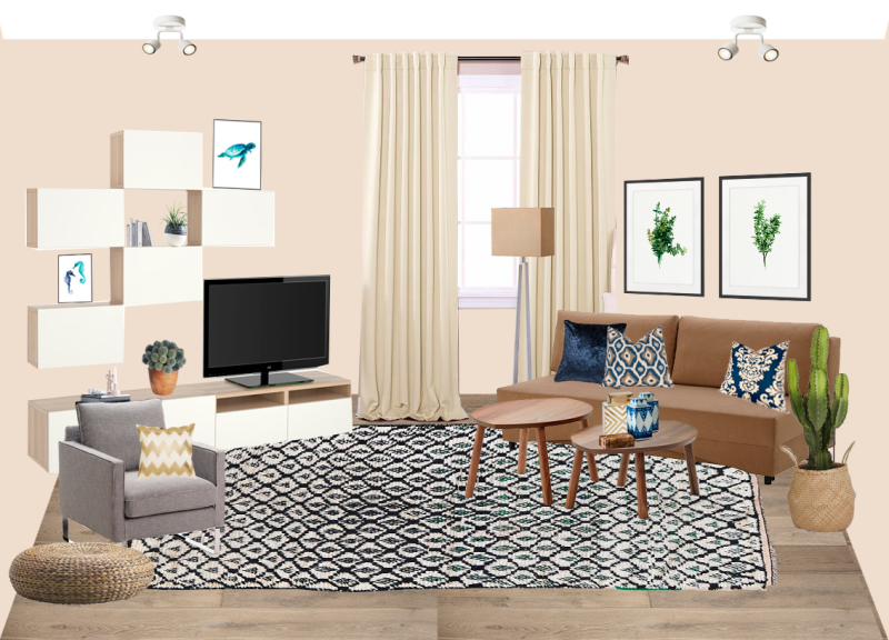 Interior Design Project for One Bedroom Apartment