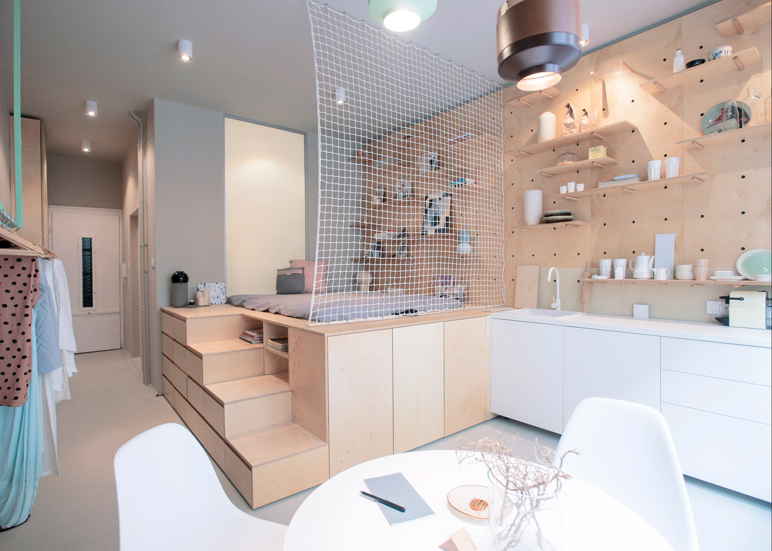 Air-BnP-home_Position-Collective_small-aparment_Budapest_Hungary_plywood_Balazs-Glodi_dezeen_1568_0