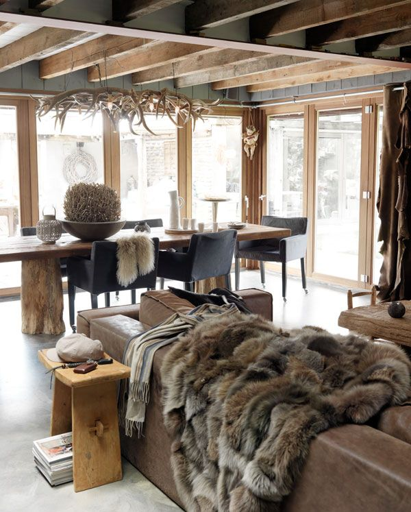 Build your house like a viking for Decoration interieur chalet montagne