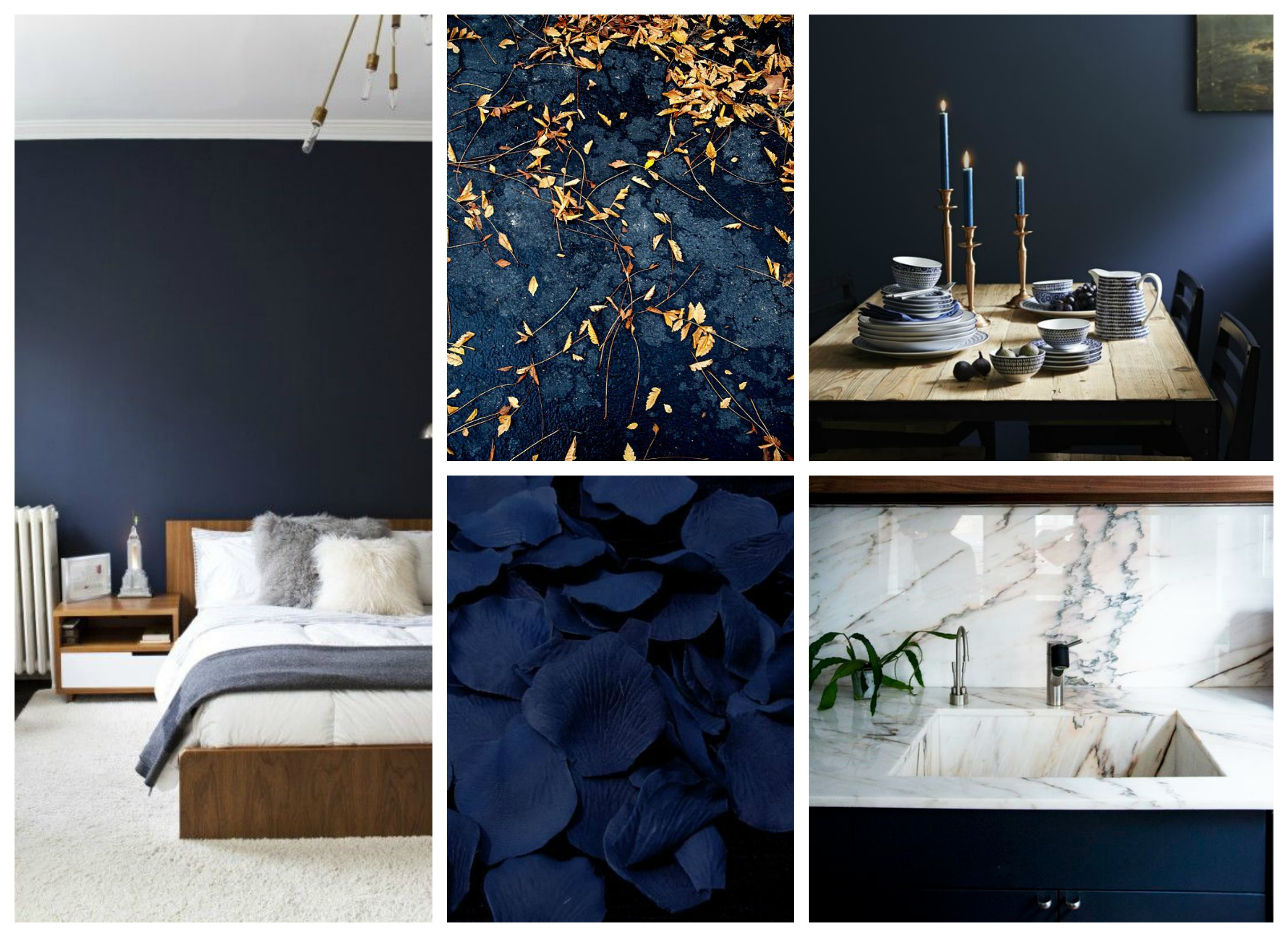 Dark blue living room - Blue Mood Board Green Moodboard
