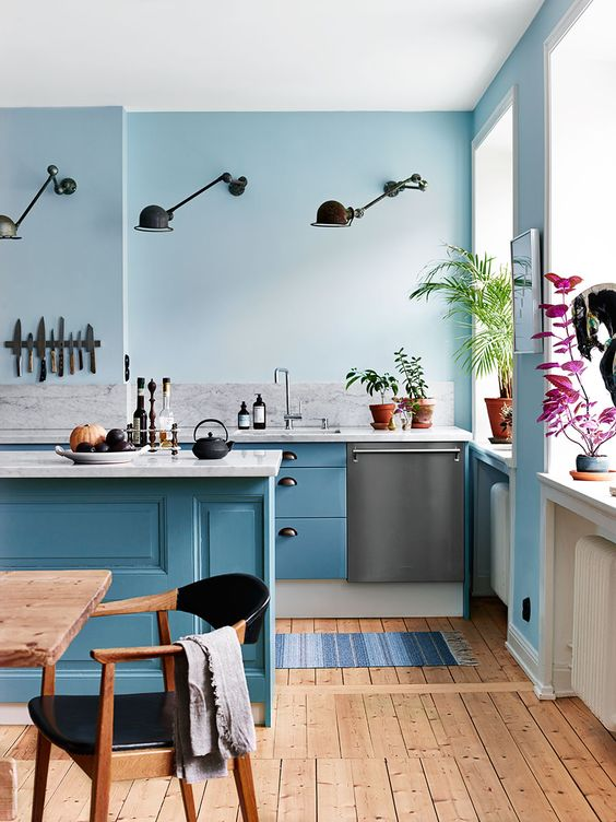 Pastel Blue Hot Kitchen Trend L Essenziale