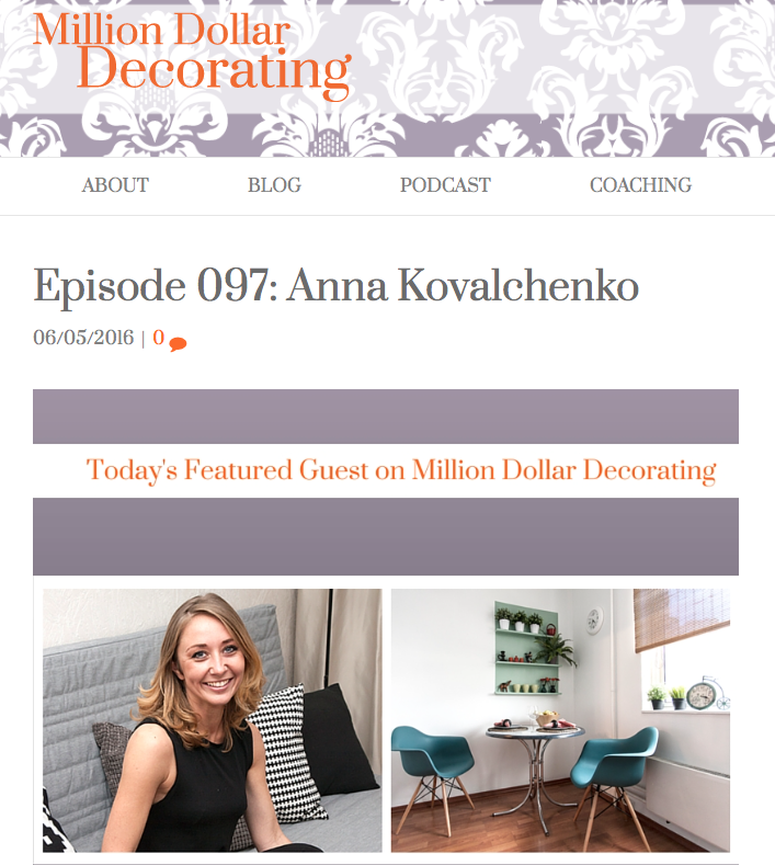 Interview With Million Dollar Decorating