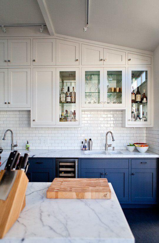 Ideas Dark Kitchen Countertops Image Source Blue