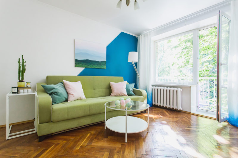 Before and After: Apartment in Blue and Green