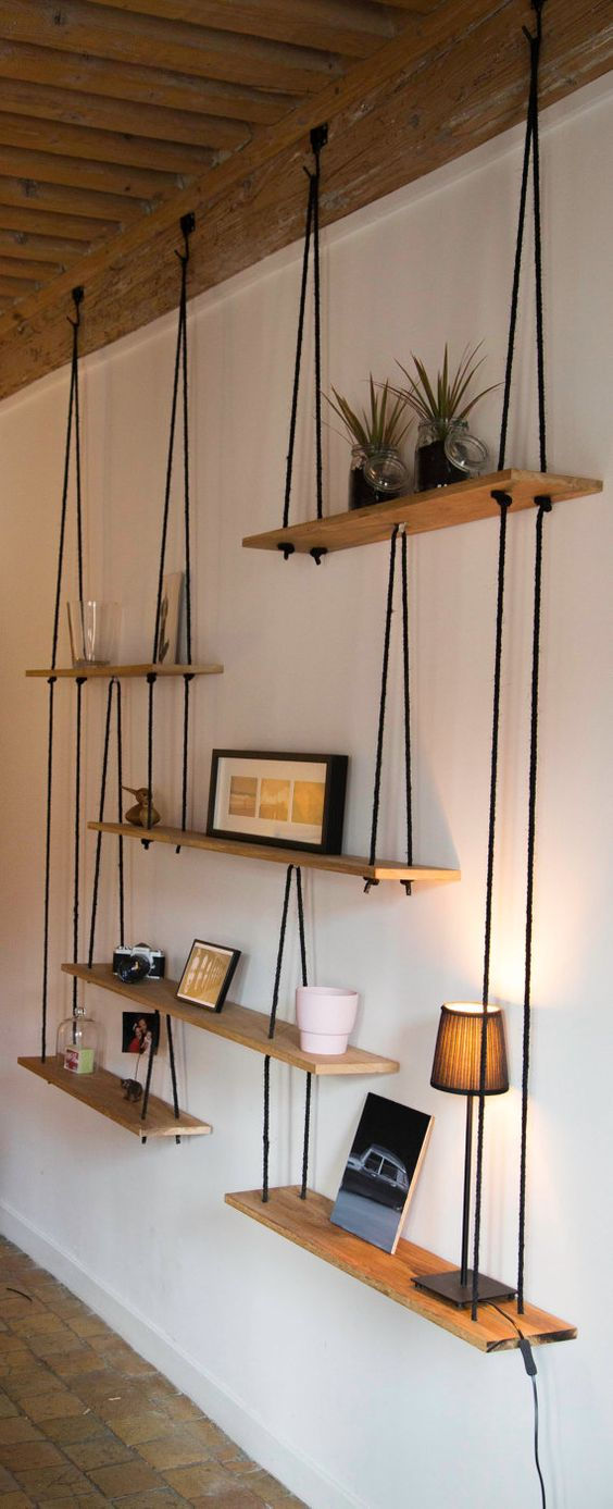 DIY shelves. Image source