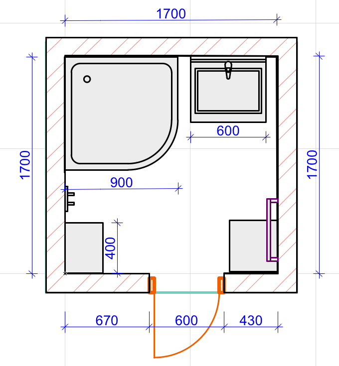 Bathroom Makeover Project: Lighting, Electricity Plan and ...
