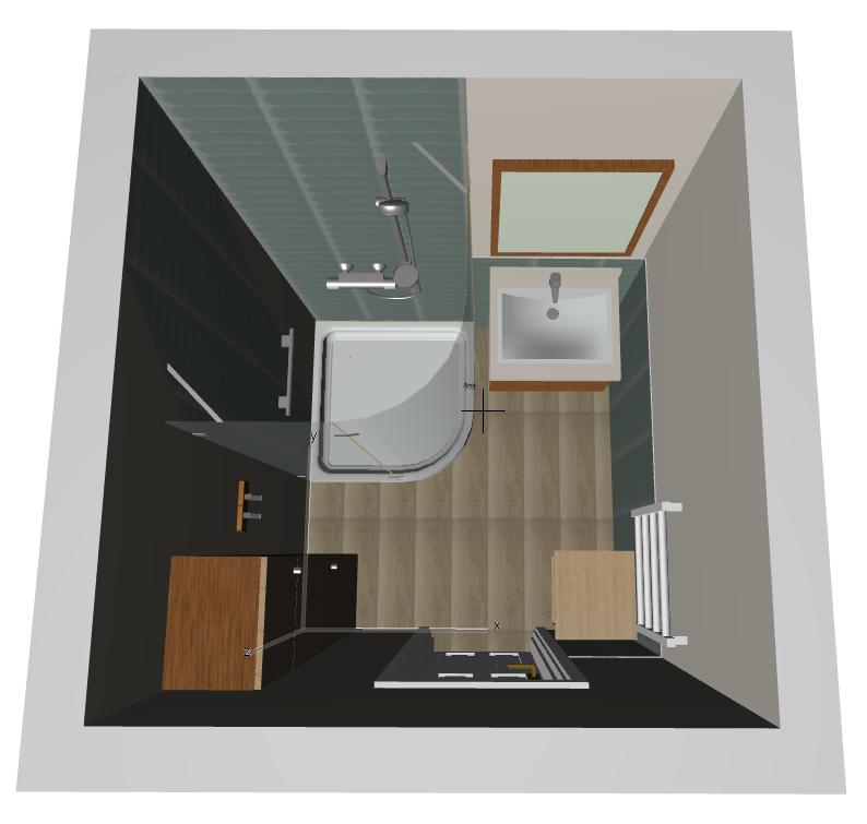Bathroom Remodel Moodboard Concept Floor Plan