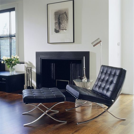 Famous Barcelona chair created by Ludwig Mies van der Rohe, Model No. MR90  (1929)