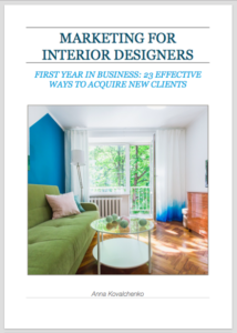 BOOKS COURSES Marketing For Interior Designers