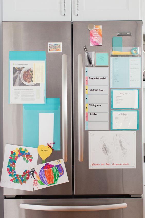 organizing fridge