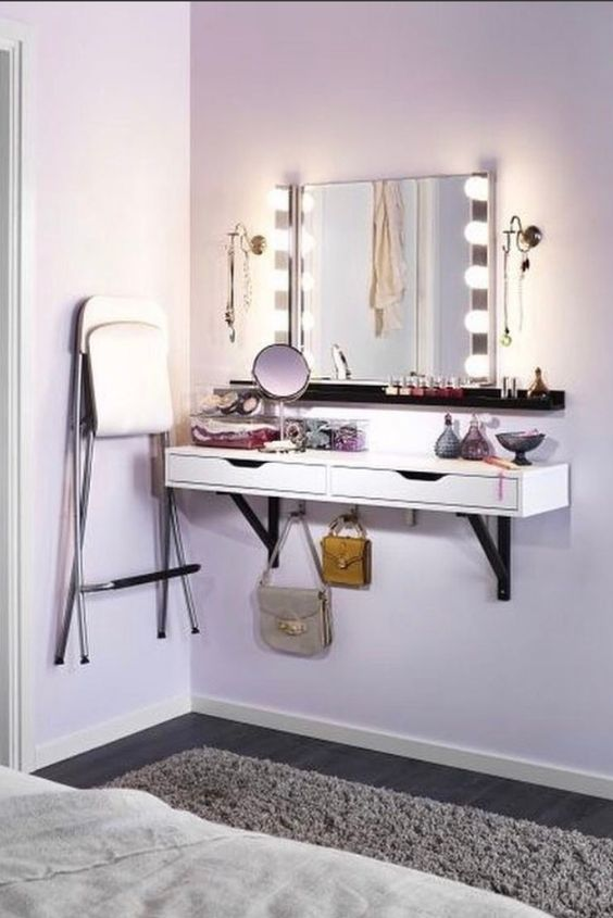 7 Diy Makeup Vanity Ideas L Essenziale