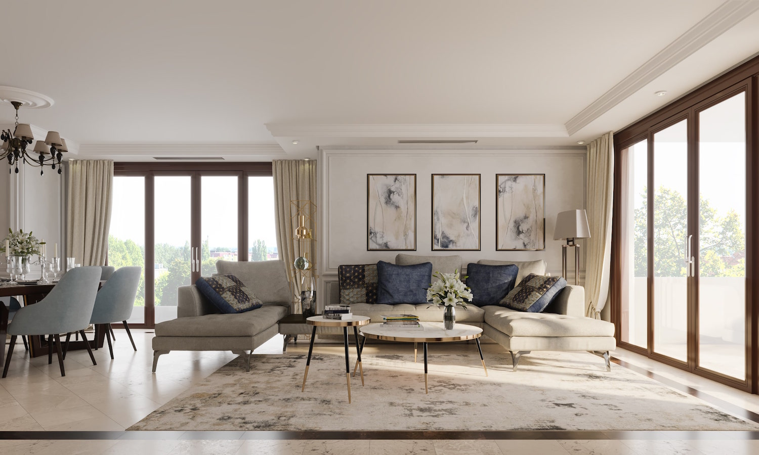Interior Design Of The Apartment In Estepona Spain L Essenziale,Wall Art Modern Dining Room Wall Decor