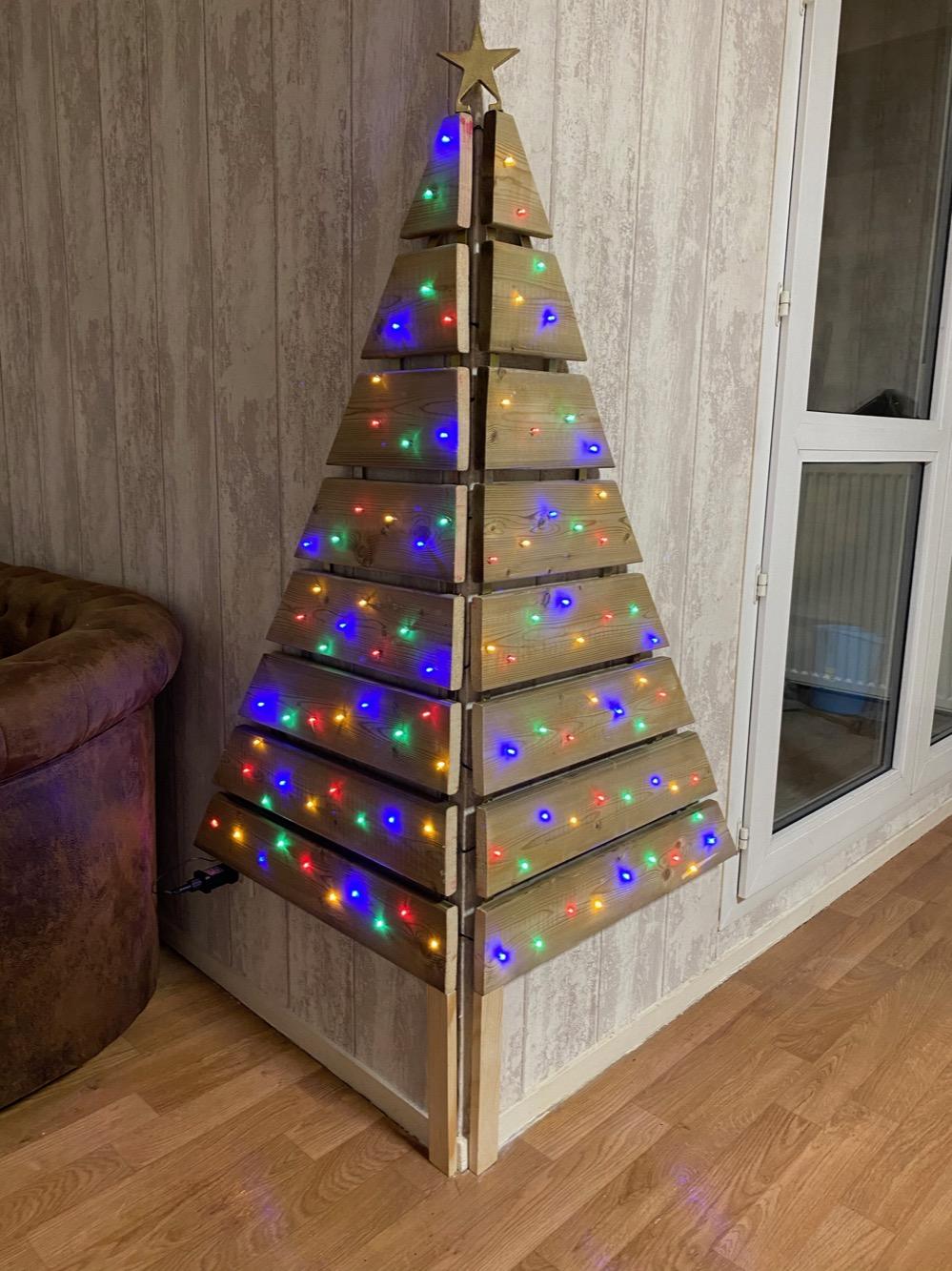 Diy Mini Project Corner Wall Christmas Tree L Essenziale